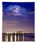 Safety Harbor Pier Illuminated Fleece Blanket