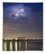 Safety Harbor Pier Fleece Blanket