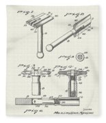 Safety Razor Patent 1937 Fleece Blanket
