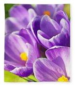 Saffron Flowers. Fleece Blanket