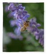 Sage Bee Fleece Blanket