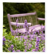 Sage Garden Fleece Blanket