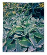 Sage In The Garden Fleece Blanket