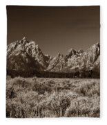 Sagebrush And Tetons Fleece Blanket
