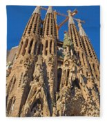 Sagrada Familia In Barcelona Fleece Blanket