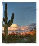 Saguaro At Sunset Fleece Blanket
