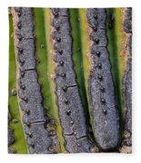 Saguaro Cactus Close-up Fleece Blanket