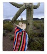 Saguaro Cactus The Visitor 1 Fleece Blanket