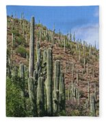 Saguaro Forest In The Superstitions Fleece Blanket