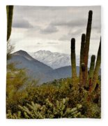 Saguaro Sentinels Fleece Blanket