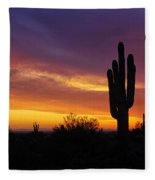 Saguaro Sunset II  Fleece Blanket