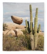 Saguaros And Big Rocks Fleece Blanket