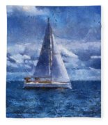 Sail Boat Photo Art 02 Fleece Blanket