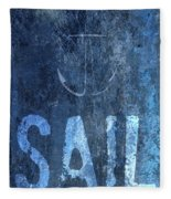 Sail On Fleece Blanket
