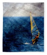 Sailboarding W Metal Fleece Blanket
