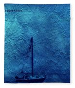 Sailboat As A Painting Fleece Blanket