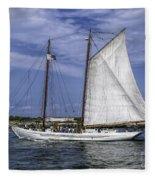 Sailboat In Cape May Channel Fleece Blanket