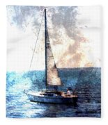 Sailboat Light W Metal Fleece Blanket