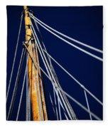 Sailboat Lines Fleece Blanket