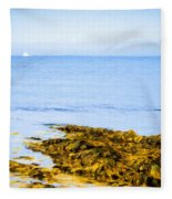 Sailboat Off The Ovens Fleece Blanket