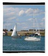 Sailboat On Lake Ontario Near Old Fort Niagara 2 Fleece Blanket