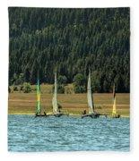 Sailboat Regatta Cascade Lake Fleece Blanket