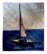 Sailboat Slow W Metal Fleece Blanket