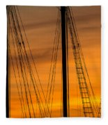 Sailboat Sunrise Fleece Blanket