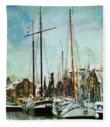 Sailboats Fleece Blanket