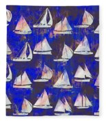 Sailboats Fleece Blanket