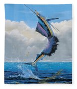Sailfish Dance Off0054 Fleece Blanket