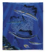 Sailfish Round Up Off0060 Fleece Blanket