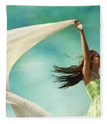Sailing A Favorable Wind Fleece Blanket