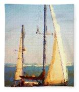 Sailing At Daytona Fleece Blanket