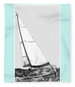 Sailing Freedom On A Reach Fleece Blanket