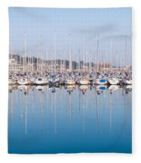 Sailing Boats In The Howth Marina Fleece Blanket