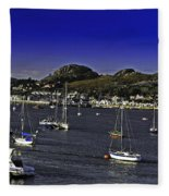 Sailing Conwy Harbor Fleece Blanket