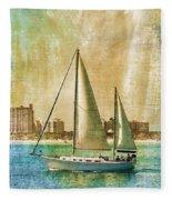 Sailing Dreams On A Summer Day Fleece Blanket