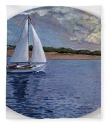 Sailing Homeward Bound Fleece Blanket