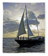 Sailing In Aruba Fleece Blanket