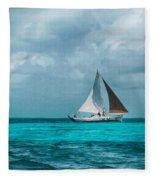 Sailing In Blue Belize Fleece Blanket