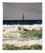Sailing In California Fleece Blanket