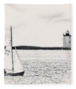 Sailing In Cape Cod Fleece Blanket