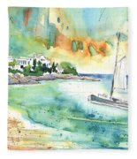 Sailing In Saint Martin Fleece Blanket