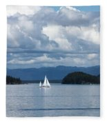 Sailing In The San Juans Fleece Blanket
