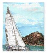 Bay Of Islands Sailing Sailing Fleece Blanket