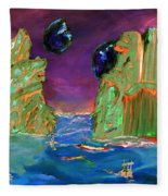 Sailing On Beta Antares 3 Fleece Blanket