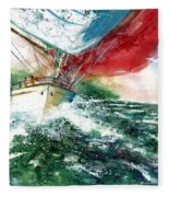 Sailing On The Breeze Fleece Blanket