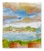 Sailing On The River Fleece Blanket