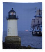 Sailing Out For The Red Moon Fleece Blanket